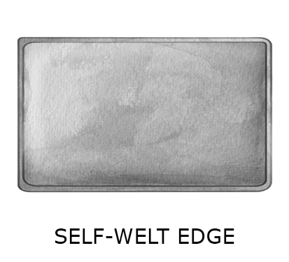 rect self-welt edge