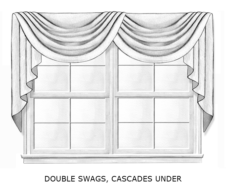 double swags cascades under
