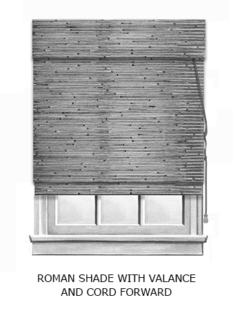 NWS roman shade with valance bw