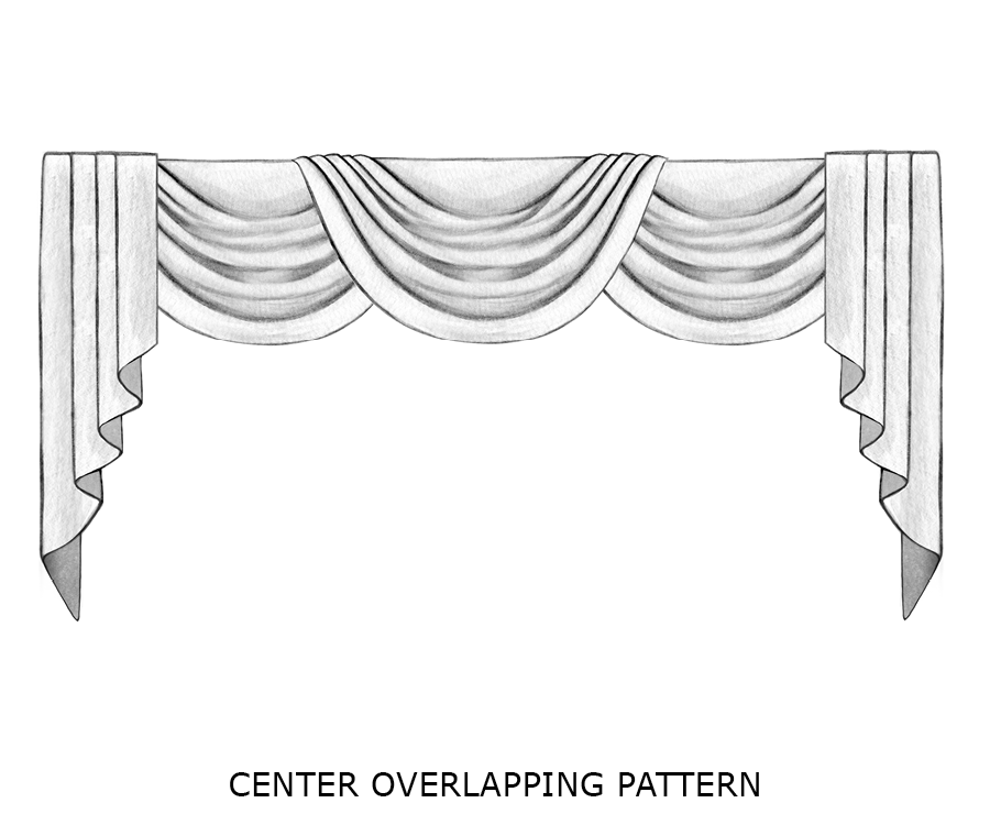 center overlapping pattern