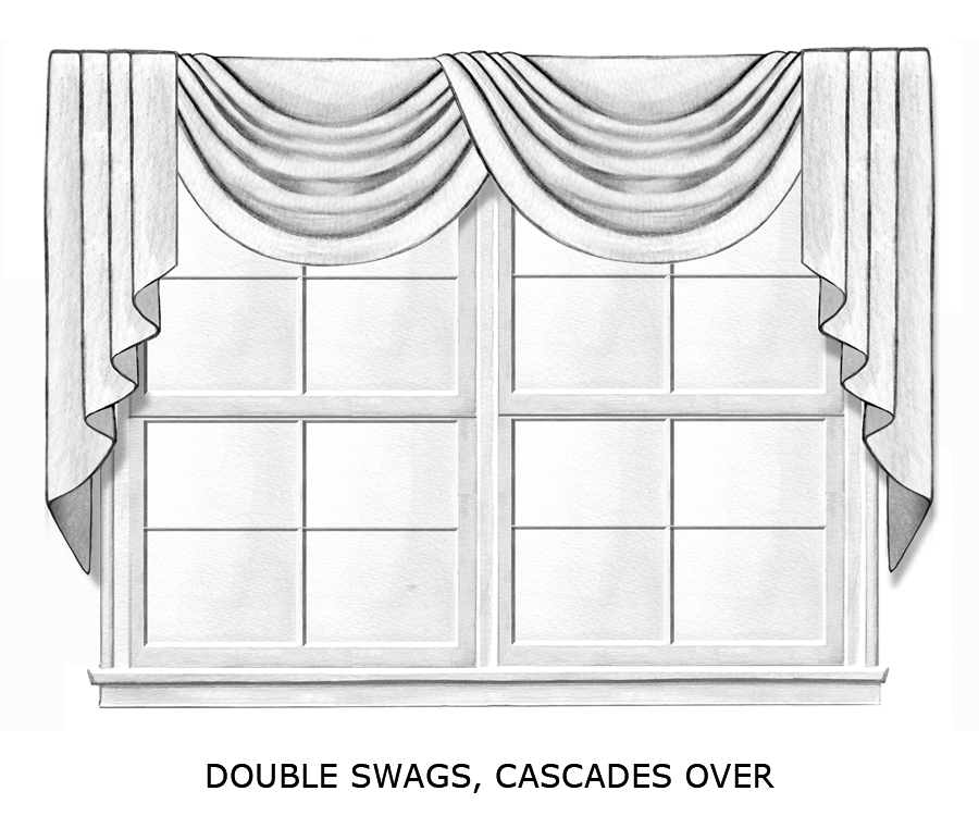 double swags cascades over