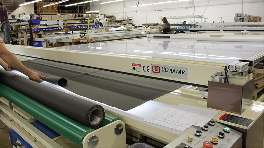 FABRITEC Solar Fabrics Cutting